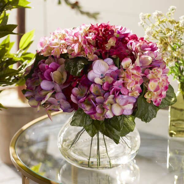 June Large Hydrangea Arrangement in Vase by Nearly Natural