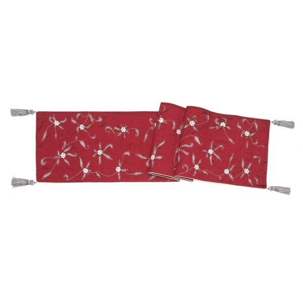 Poinsettia Table Runner by Arcadia Home