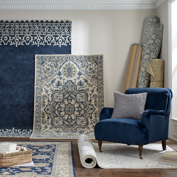 Louisa Ivory & Navy Rug by Birch Lane™