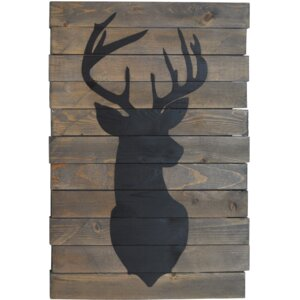 'Oh Deer' Graphic Art on Wood by Fireside Home
