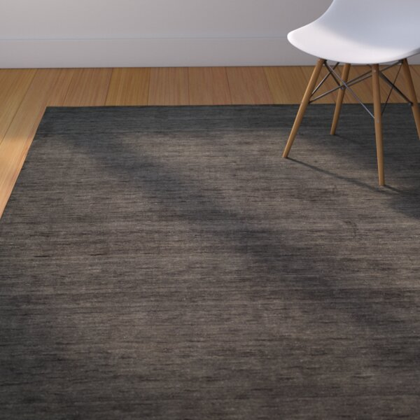 Aghancrossy Hand-Loomed Charcoal Area Rug by Langley Street