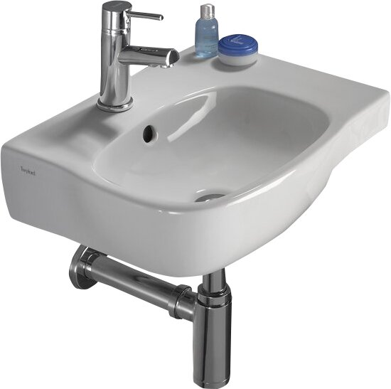 Moda Vitreous China 18 Wall Mount Bathroom Sink with Overflow by Bissonnet