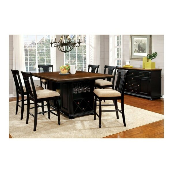 Pitcock Country 7 Piece Pub Table Set by Charlton Home