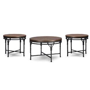 Foti 3 Piece Coffee Table Set Latitude Run