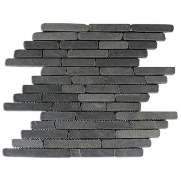 Gambia Random Sized Natural Stone Mosaic Tile in Gray by CNK Tile