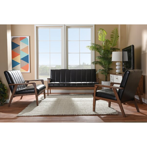 Kinley 3 Piece Living Room Set by Langley Street