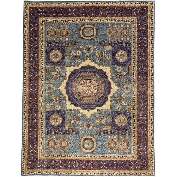 One-of-a-Kind Hand-Knotted Brown 11'9 x 15'2 Wool Area Rug
