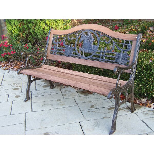 Horse Wood and Cast Iron Park Bench by Oakland Living Oakland Living