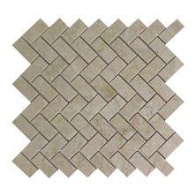 Olympos Herringbone Polished 1 x 2 Marble Mosaic Tile in Beige by Seven Seas