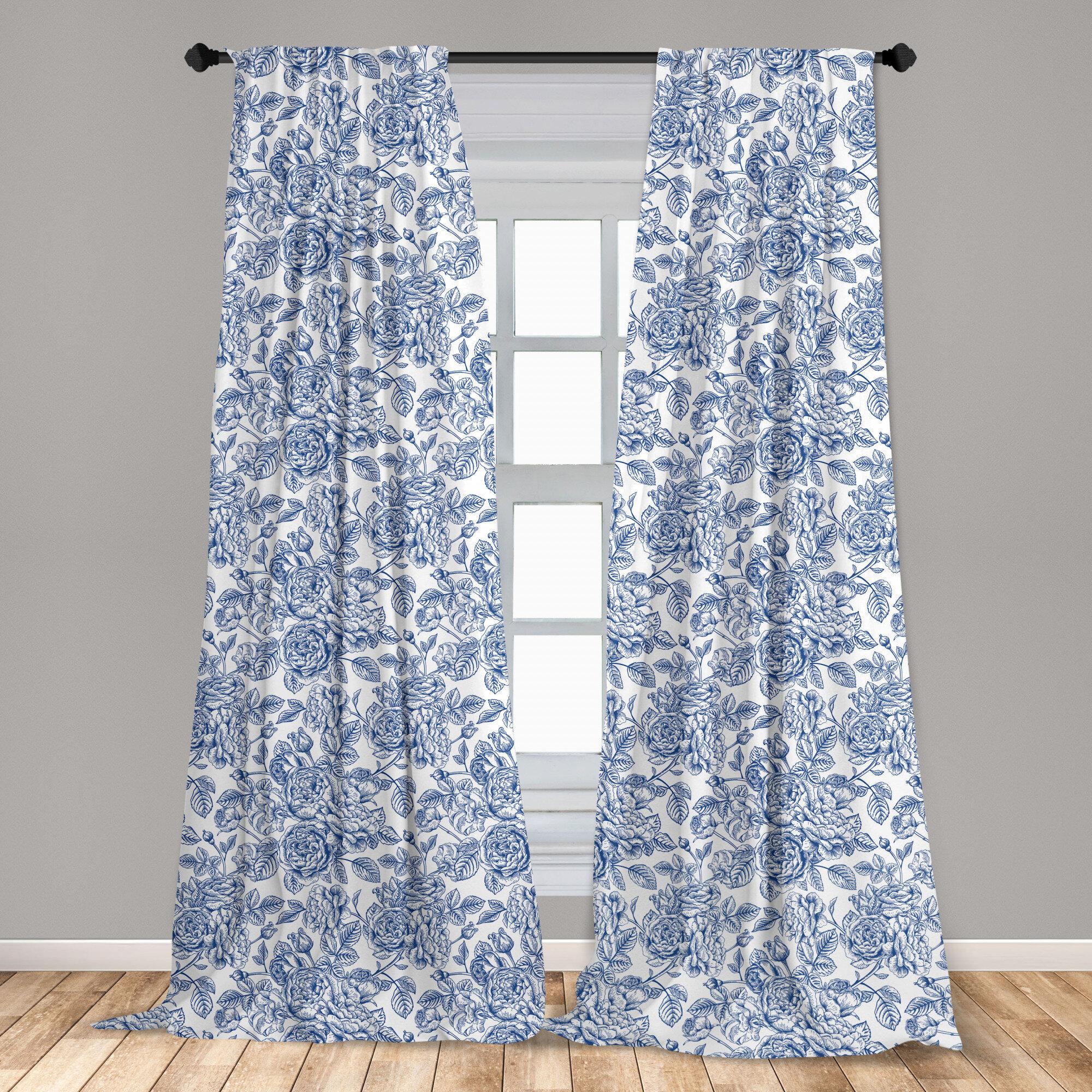 East Urban Home Rose Floral Room Darkening Rod Pocket Curtain Panels Reviews Wayfair