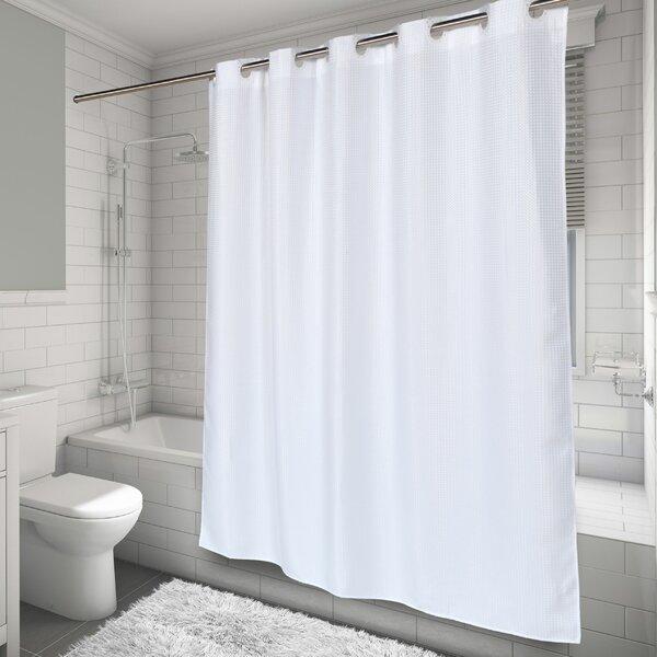 Hammitt Waffle Weave Shower Curtain by Highland Dunes