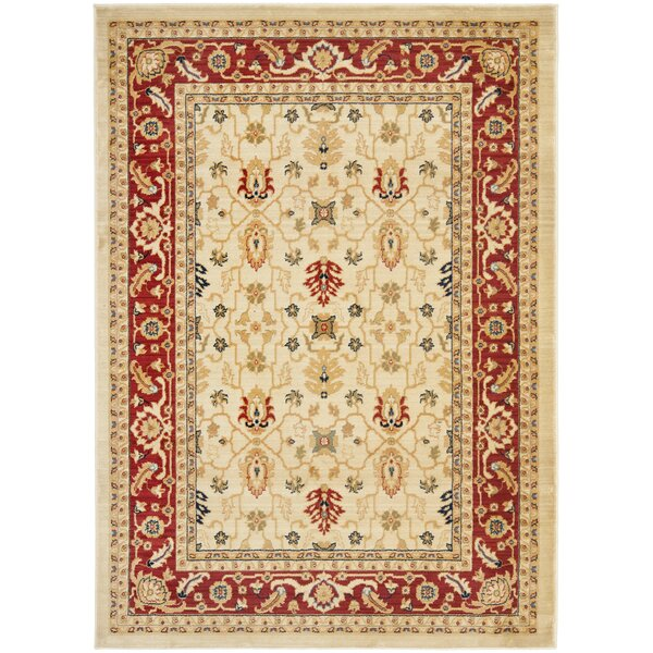 Austin Cream/Red Area Rug by Safavieh