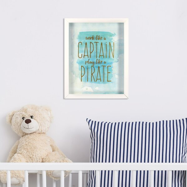 Brenton Captain Pirate Framed Paper Print by Harriet Bee