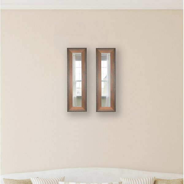2 Piece Trujillo Panels Mirror Set (Set of 2) by Millwood Pines