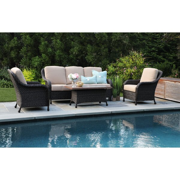 Rodas 4 Piece Sunbrella Sofa Set with Cushions by Bloomsbury Market
