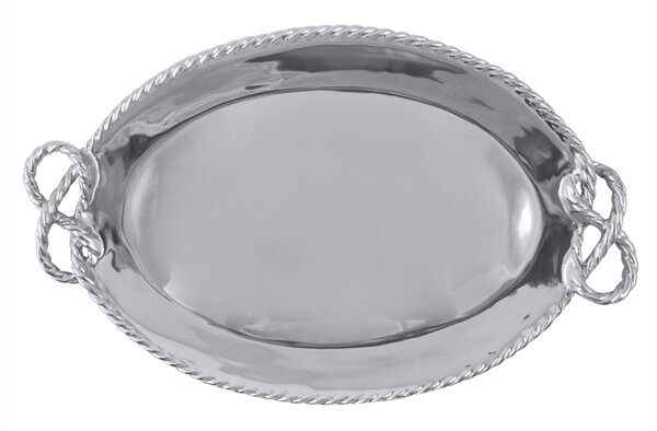High Seas  Rope Oval Serving Tray by Mariposa