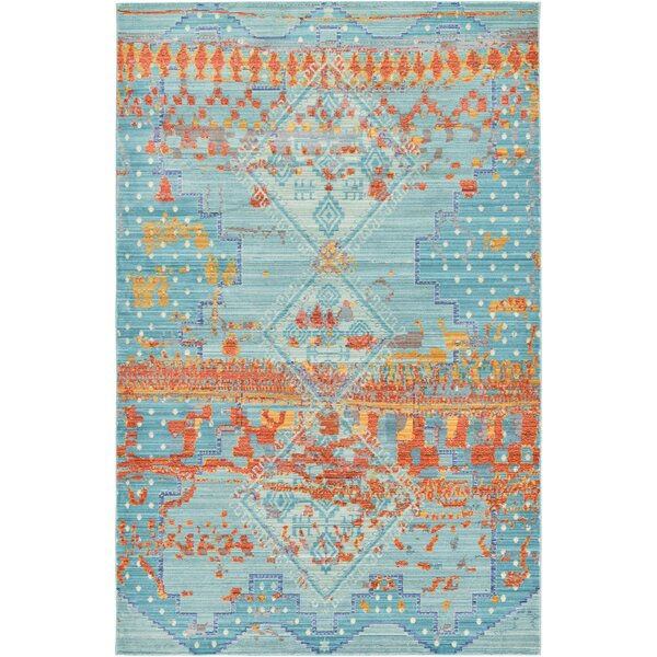 Rune Blue Area Rug by Bungalow Rose