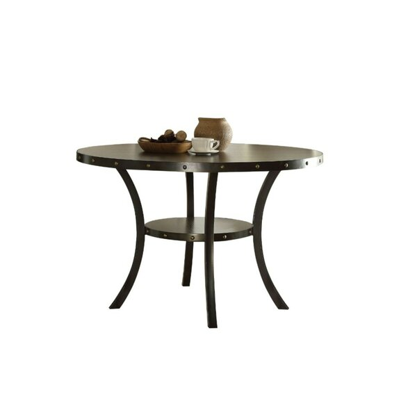Calvillo Transitional Round Solid Wood Dining Table by Williston Forge