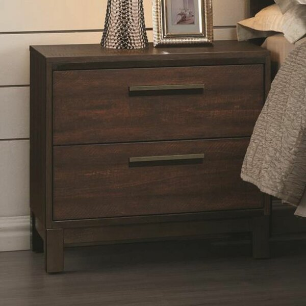 Ishkhan 2 Drawer Nightstand by Latitude Run