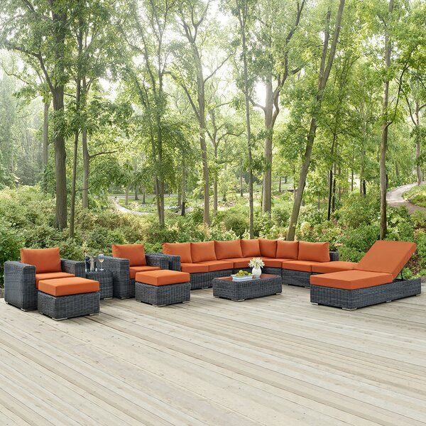 Keiran 12 Piece Sunbrella Sectional Set with Cushions by Brayden Studio