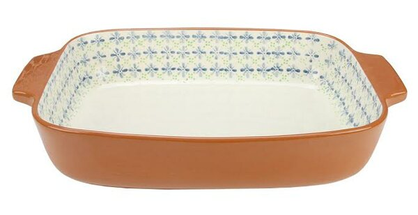 French Countryside Flower Rectangular Terracotta Oven Baking Dish by Northlight Seasonal