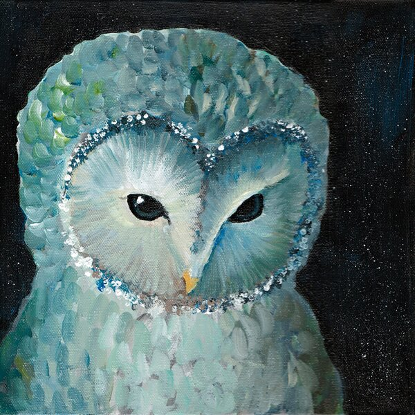 Nighttime Owl by Cathy Walters Canvas Art by Oopsy Daisy