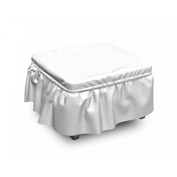 Christmas Traditional Borders 2 Piece Box Cushion Ottoman Slipcover Set By East Urban Home