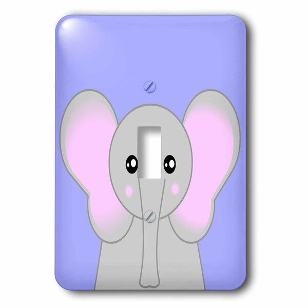 Cute Elephant 1-Gang Toggle Light Switch Wall Plate by 3dRose