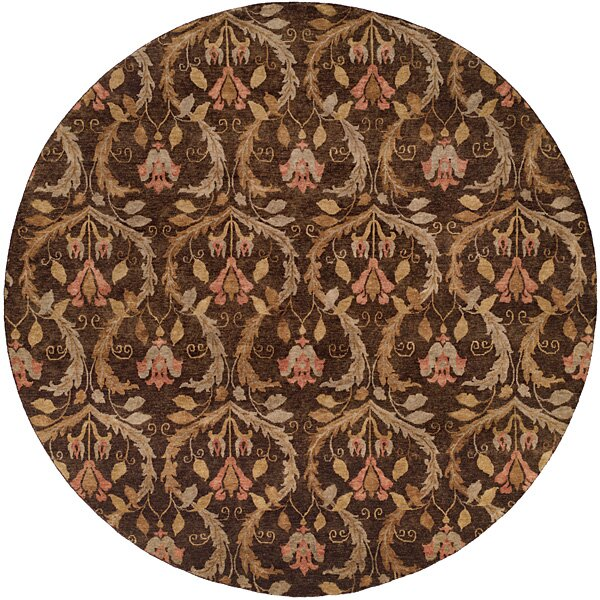 Corinto Hand-Knotted Brown Area Rug by Wildon Home ®