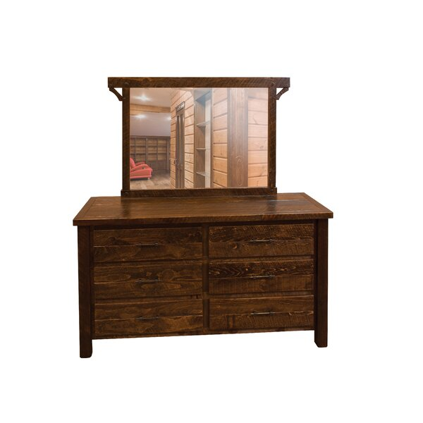 Digby 6 Drawer Double Dresser with Mirror by Loon Peak