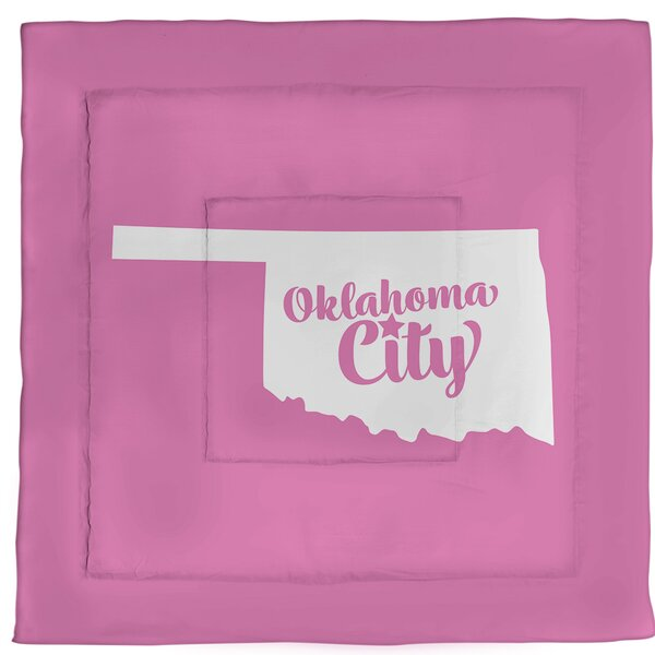 Oklahoma City Oklahoma Single Reversible Comforter