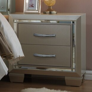 Best Choices Rocky 2 Drawer Nightstand By Harriet Bee