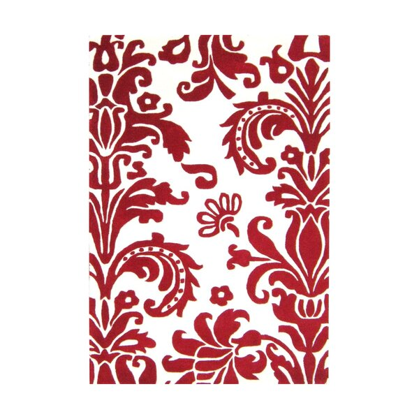 Brianna Hand-Tufted Red Area Rug by Alliyah Rugs