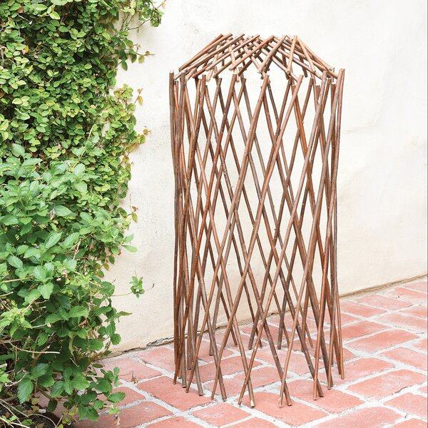 Willow Wood Expanding Trellis by HomArt
