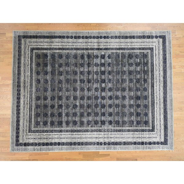 One-of-a-Kind Leysin Hand-Knotted Gray 9' x 12' Rectangle Area Rug