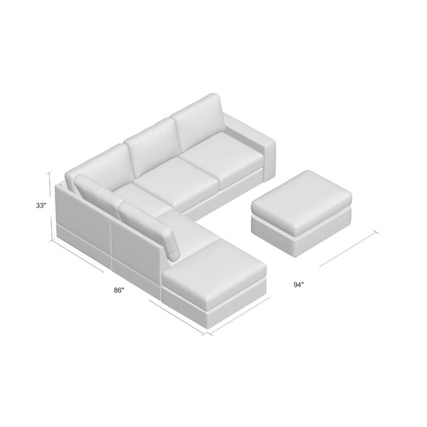 Shop Affordable Gosnell Reversible Modular Sectional with Ottoman by Greyleigh by Greyleigh