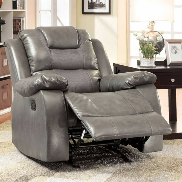 Asensio Bonded Manual Glider Recliner by Latitude Run