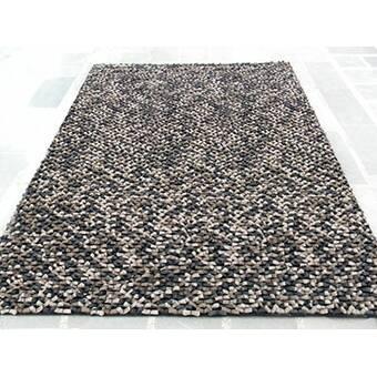Modern Rugs Cobblestone Beige Black Area Rug Wayfair