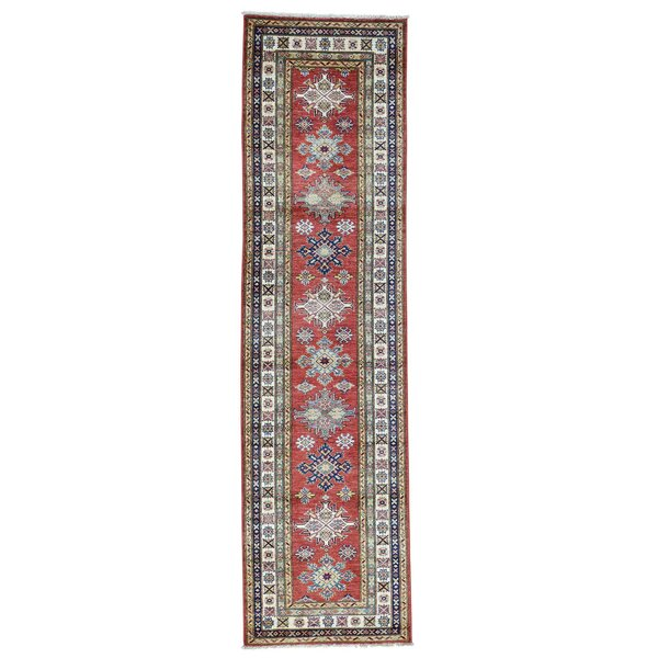 One-of-a-Kind Tilomar Hand-Knotted Red Area Rug by Millwood Pines