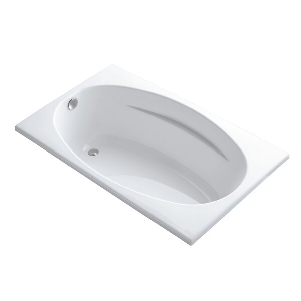 Rêve Freestanding Bath with Float Installation and Brilliant Ash Base without Jet Trim by Kohler