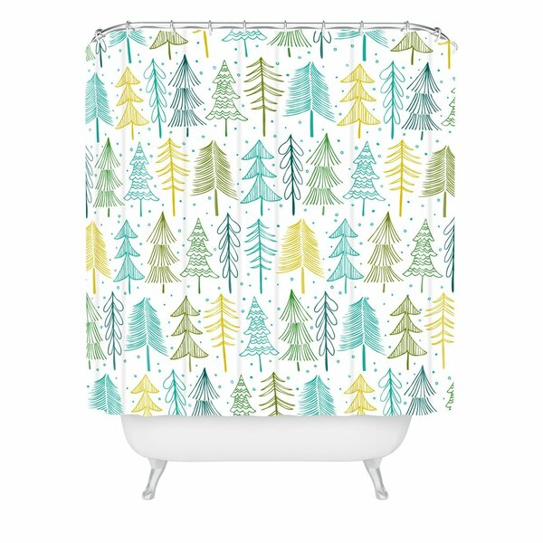 Heather Dutton oh Christmas Tree Frost Shower Curtain by East Urban Home