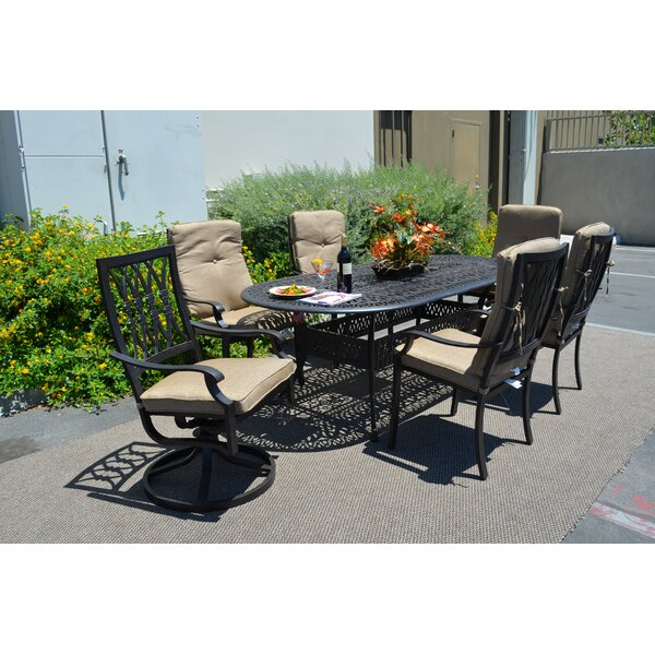 Tuscany 7 Piece Dining Set with Cushions by K&B Patio