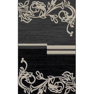 Top Reviews Yalamanchili Gray/Black Area Rug By Red Barrel Studio