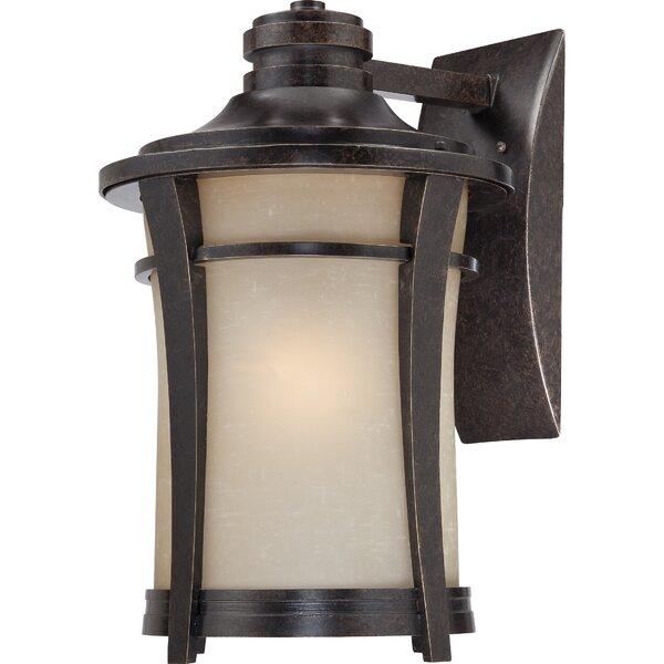 Pinehurst 1-Light Outdoor Wall Lantern by Loon Peak