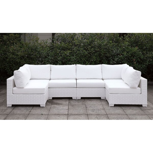 Veals Patio Sectional with Cushions by Brayden Studio