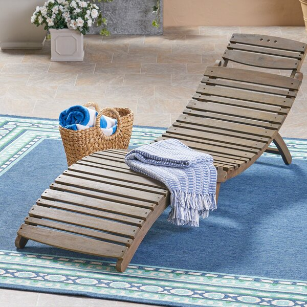 Outdoor Reclining Chaise Lounge by Gracie Oaks