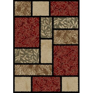 Compare Hometown Modern Panel Red/Black Area Rug By Mayberry Rug