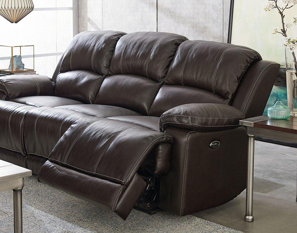 Garlock Leather Reclining Sofa