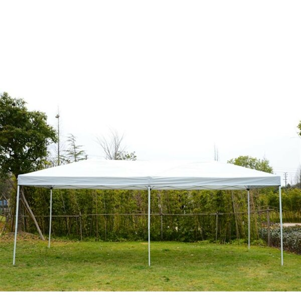 20 Ft. W x 10 Ft. D Steel Pop-Up Party Tent Canopy