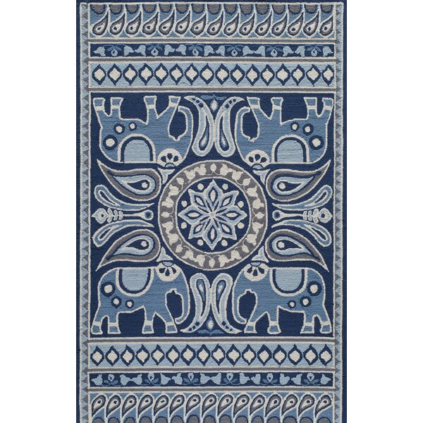 Aderdour Blue Indoor/Outdoor Area Rug by Bungalow Rose